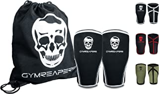 Gymreapers Knee Sleeves (1 Pair) Free Gym Bag - Knee Sleeve & Compression Brace for Squats, Weightlifting, Cross Training and Powerlifting 7MM Sleeve Pair - for Men & Women - 1 Year Warranty