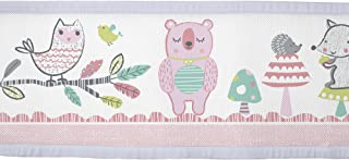 BreathableBaby Classic Breathable Mesh Crib Liner - Forest Fun Pink