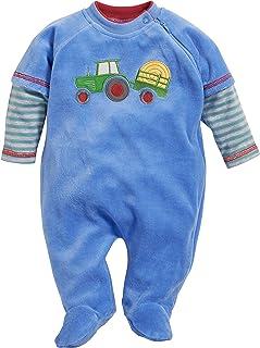 Schnizler Baby-Jungen Schlafoverall Nicki Traktor Schlafstrampler