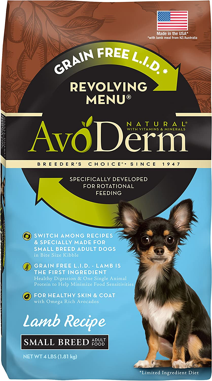 AvoDerm Natural Revolving Menu Small Breed Lamb Dog Food, 4Pound