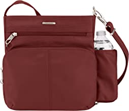 Travelon Anti-theft Classic N/S Cross Body Bag, Wine