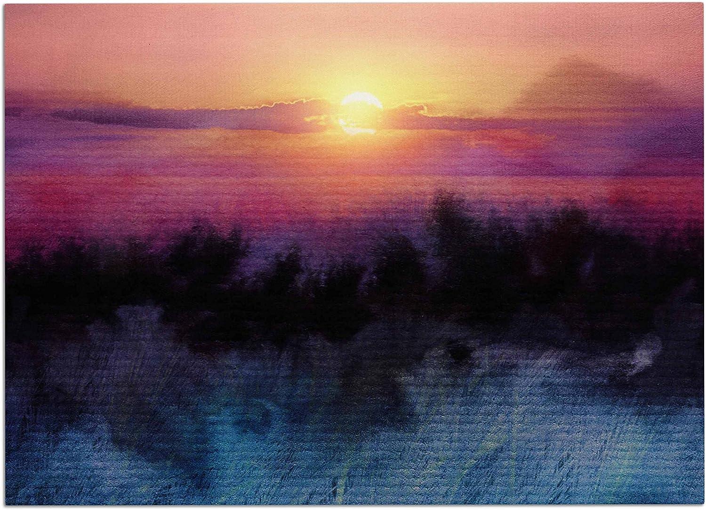 KESS InHouse Viviana Gonzalez Calling The Sun IV Pink Yellow Dog Place Mat, 24  x 15