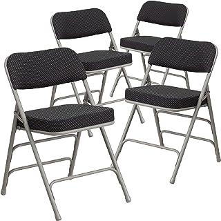 Flash Furniture 4 Pack HERCULES Series Premium Curved...