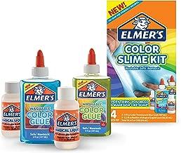 Elmer's Color Slime Kit (2062237), translúcido, Azul/Verde, 2-Count + 2-Activator