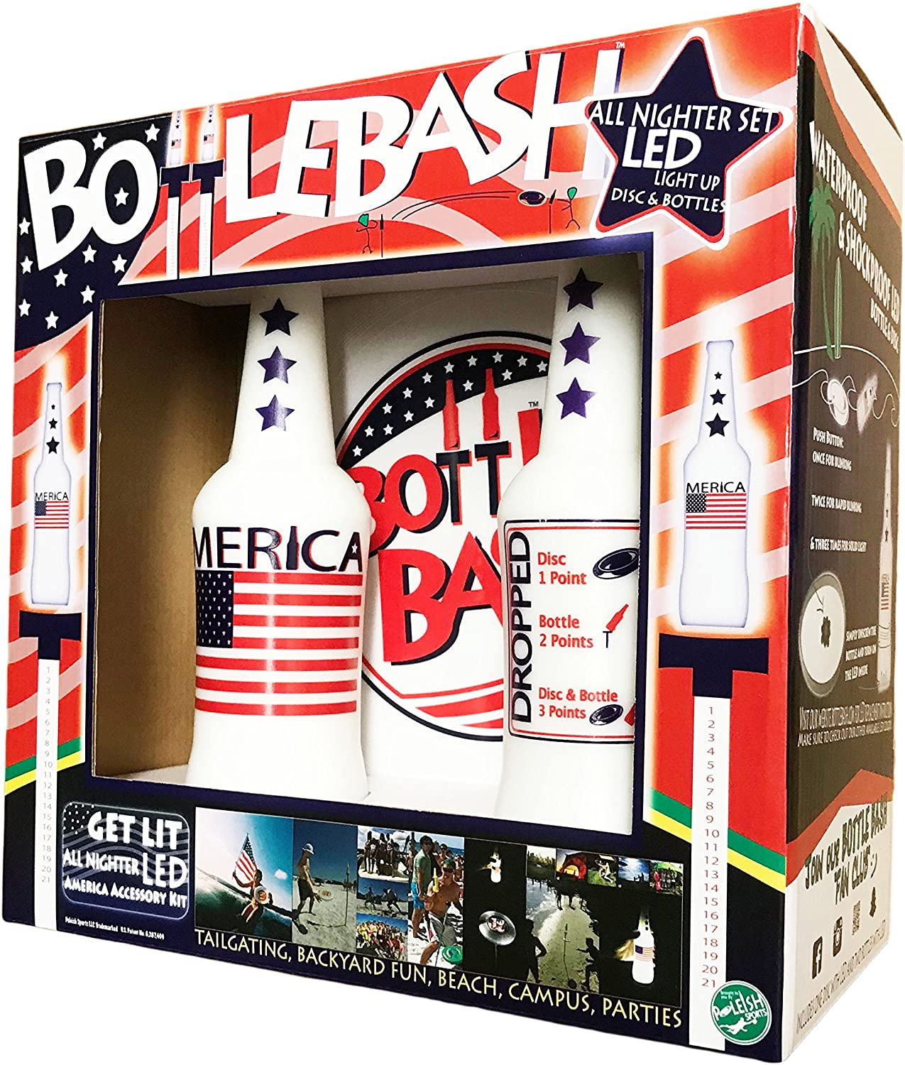Poleish Sports Bottle Bash America Some reservation Japan's largest assortment Stripes Stars Accessory and