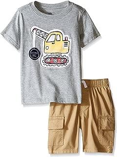 Kids Headquarters 男童 2 件套图案 T 恤工装短裤