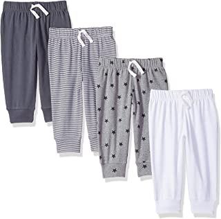 Amazon Essentials 4-Pack Pull-on Pant Bebé-Niños, Pack de 4