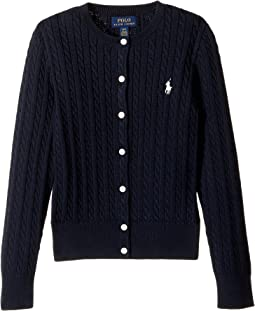 Polo Ralph Lauren Kids Cable Knit Cotton Cardigan (Little Kids/Big Kids)