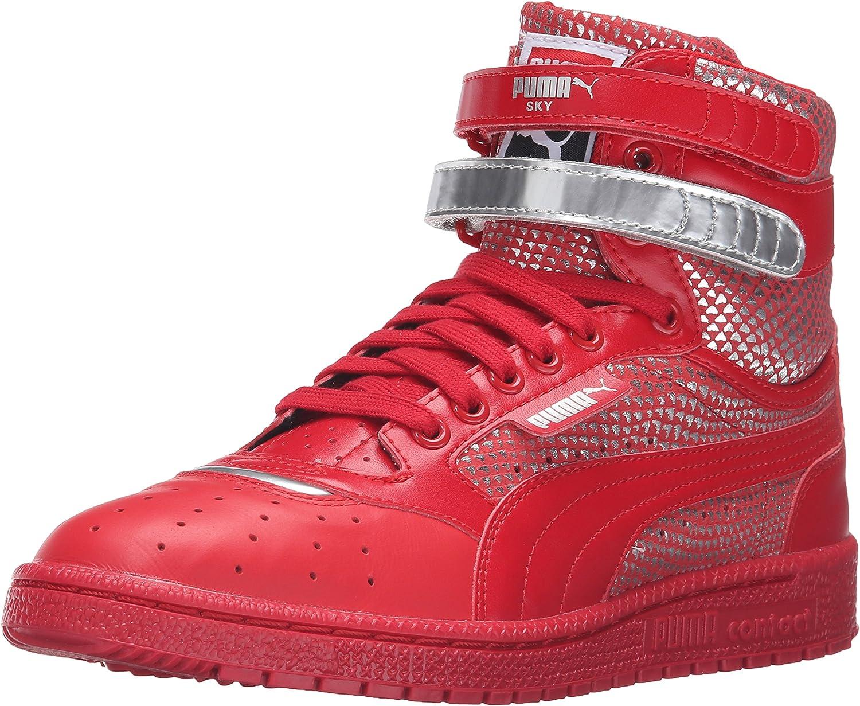 PUMA Men's Sky 2 HI Sneaker, Black/Steel Gray, 9 M US