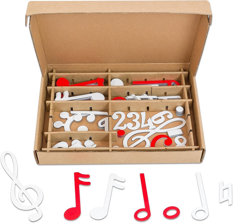 Betzold 84633 - Magnetischer Notensatz weiß rot – Musiknoten lesen lernen, Musikunterricht, Musiklehre B01IJU3NME    Nicht so teuer