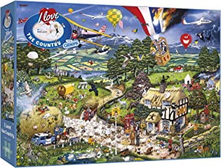 I Love the Country 1000 Piece Jigsaw Puzzle   Sustainable Puzzle for Adults   Premium 100% Recycled Board   Great Gift for...