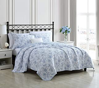 Laura Ashley Home - Walled Garden Collection - Quilt Set - 100% Cotton - Cozy, Soft and Breathable - Reversible & Medium-W...