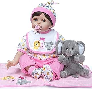 ZIYIUI Reborn muñecos bebé 22 Pulgadas 55cm muñeca de Vinilo de Silicona Bebes Reborn realistas Suave