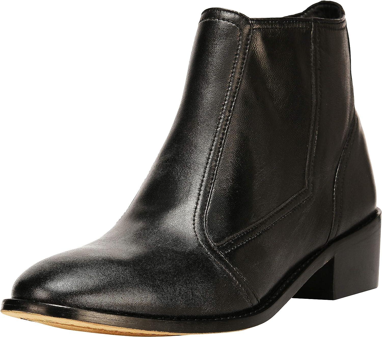 LIBERTYZENO お気に入 Women Zipper Chelsea Boots Leather Ankle Dre 春の新作続々 Fashion