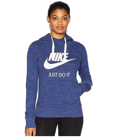Nike Sportswear Gym Vintage HBR Hoodie (Blue Void/Sail) Women