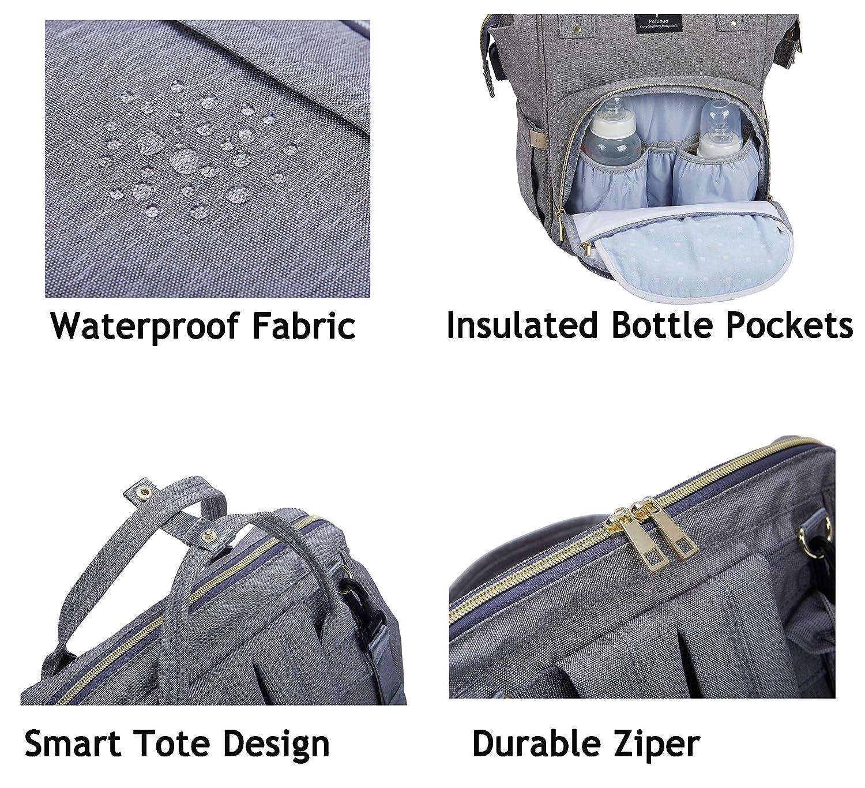 Diaper Bag Backpack,POFUNUO Backpack Purse for Women,One of Baby Stuff Necessities,Large//Lightweight//Multi-Function//Waterproof Black