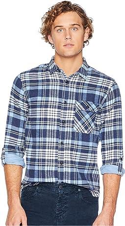 Regular Fit Brushed Check Shirt w/ Tonal Inside