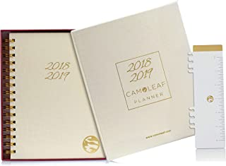 2018-2019 Academic Planner, Daily, Weekly & Monthly - Hardcover A5 Agenda Calendar with Gift Box, Stickers, Bookmark/Ruler, Pockets, Thick Pages, Jul '18 - Aug '19 (14 Months)