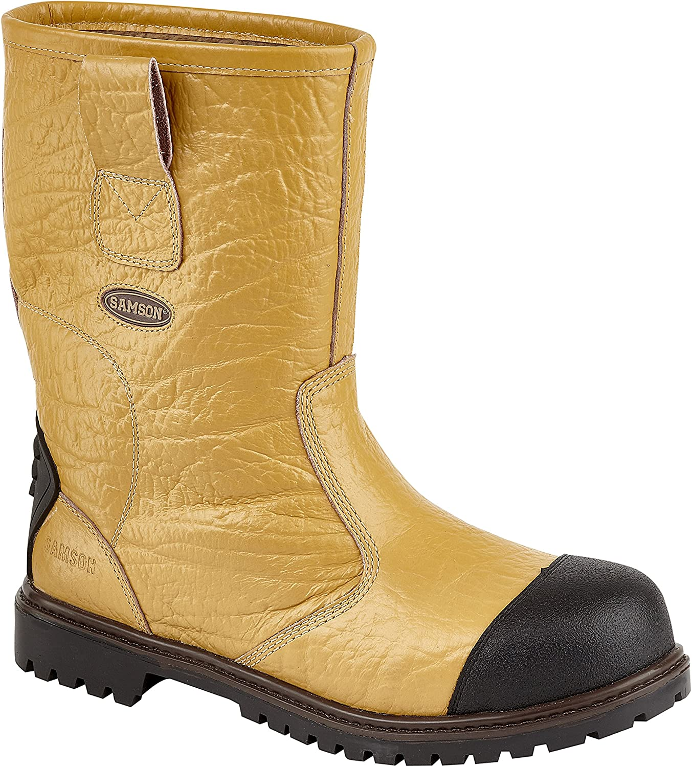 Samson 7025 S3 Tan Steel Toe Fur Lined Bump Cap Safety Rigger Boots Work Boot