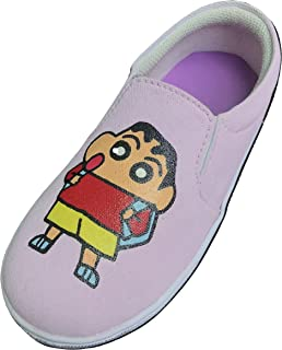 FUNKY N TRENDY Shin Chan Hand Painted Waterproof Women's Canvas Shoes