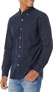 Amazon Brand - Goodthreads Men's Slim-Fit Long-Sleeve Plaid Poplin Shirt