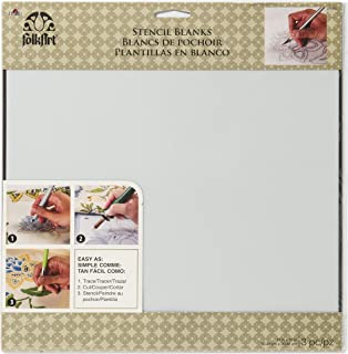 FolkArt Painting Stencils, 12 by 12-Inch, 31632 Large Blanks
