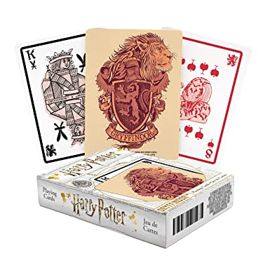 AQUARIUS Harry Potter Playing Cards - Gryffindor Themed Deck of Cards for Your Favorite Card Games - Officially Licensed Harry Potter Merchandise & Collectibles - Poker Size with Linen Finish