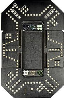 Jackaroo  - 4/6 player extendable - Black Leather