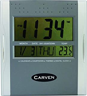 CARVEN CLDIGITAL Clock Digital 210MM, Silver