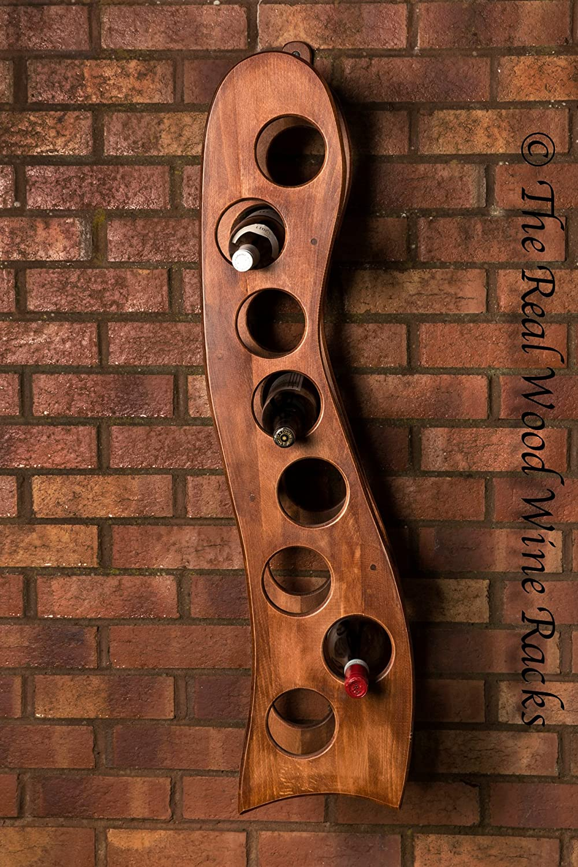 New Real Wooden Wine Rack   Cabinet, 8 Bottles, Rook 8 Calvados Hanging, Kitchen   Bar