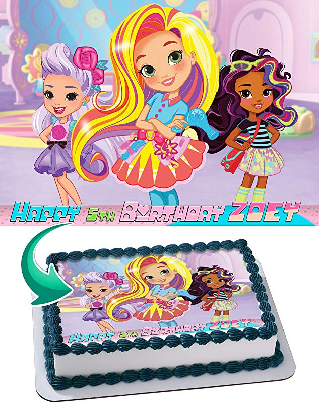 Sunny Day Nick Jr Nickelodeon Edible Cake Image Personalized Icing Sugar Paper A4 Sheet Edible Frosting Photo Cake 1 4 Best Quality Edible Image For Cake