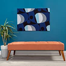 Christopher Knight Home Living Dillon Mid Century Modern Fabric Tufted Top Bench Ottoman (Orange)