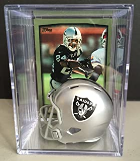 Oakland Raiders NFL Draft Helmet Shadowbox w/ Charles Woodson card