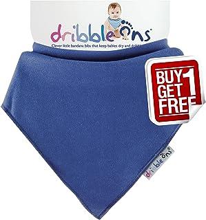 Sock Ons Dribble Ons Super Absorbant Bandanna Style Bibs, Navy