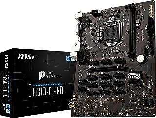 MSI H310-F Pro - Placa Base Pro Series (LGA 1151, 1 x PCI-E 3.0 x16, HDMI, DVI-D, 4 x SATA 6 GB/s, Mining Management, 4 x USB 3.1, 4 x USB 2.0)