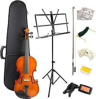 Windsor 4 Violin Super Kit, includes Case, Bow, 2xRosin 2X Bridge, spare Strings, Digital tuner, Music Stand & Shoulder Rest (VIOLINSK44)