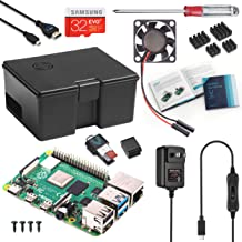 Vilros Raspberry Pi 4 Starter Kit with Fan Cooled Use and Store Case (8GB, Black Case)