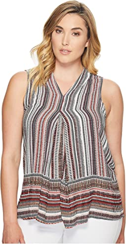 Plus Size Perry Pleat Front Blouse