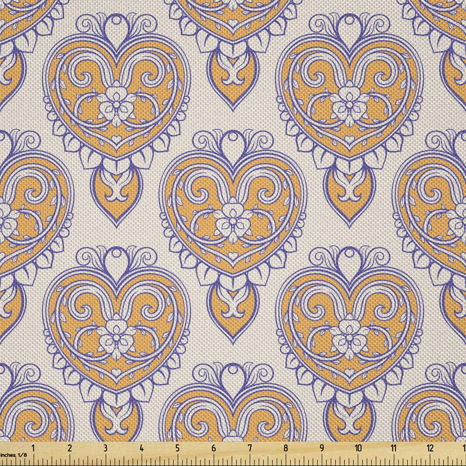 Ambesonne Floral Animer and price revision Fabric by The Ranking TOP3 Yard of Style Flow Vintage Print