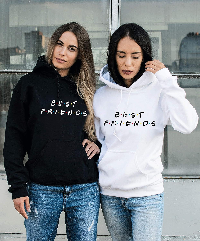 Best Friends Pullover f/ür Zwei M/ädchen 1 St/ück Beste Freunde Hoodie f/ür 2 M/ädchen Sister Freundin Freundschafts Pulli BFF Geschenke