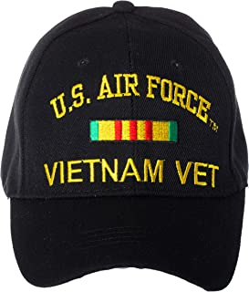 Artisan Owl Officially Licensed Vietnam Veteran Embroidered Adjustable Baseball Cap - US Navy, US Air Force, US Army