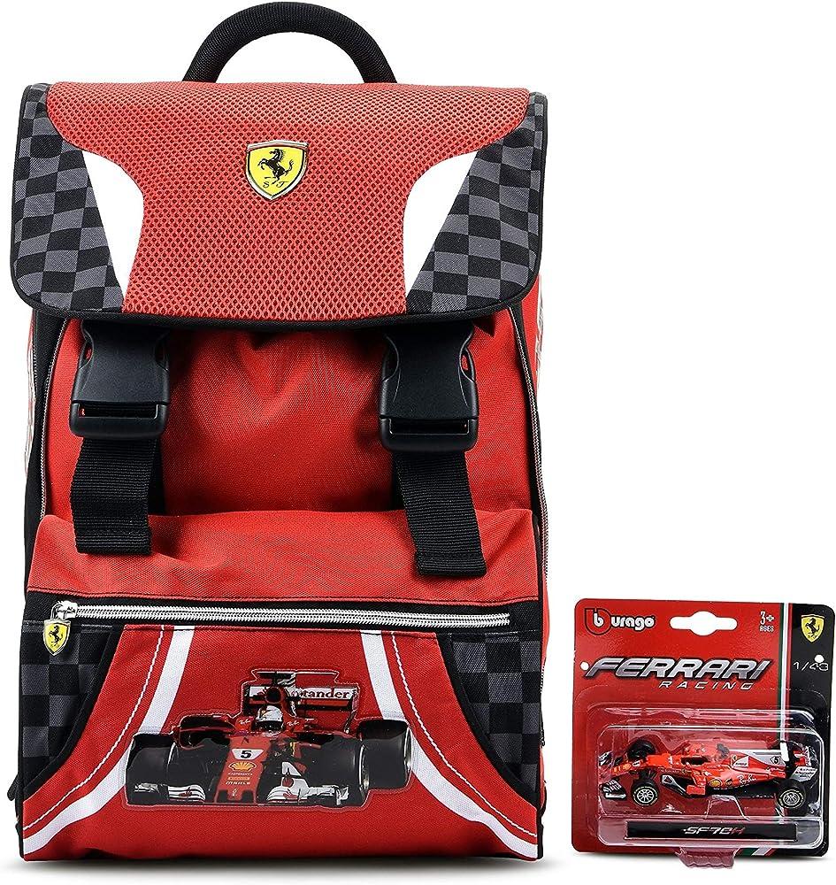 Ferrari,zaino per la scuola estensibile, ferrari kids 58230PRM
