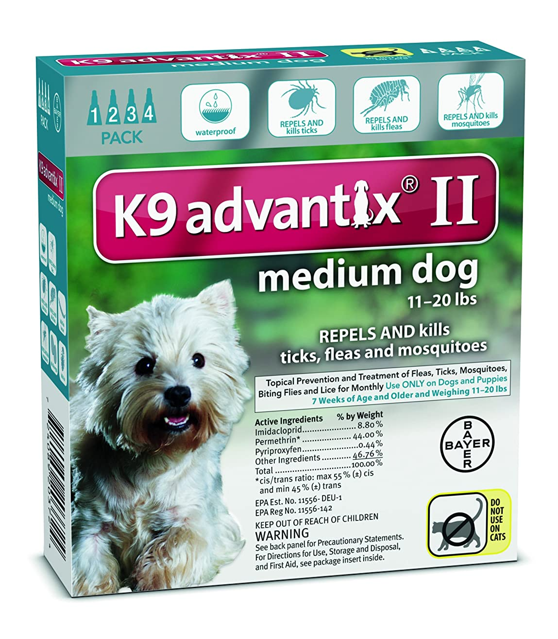 New - For Dogs 10-22 Lbs. 4 Month Supply by Advantix