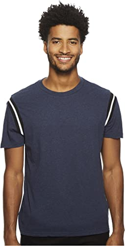 Athletic Collage Rib Tipping Tee
