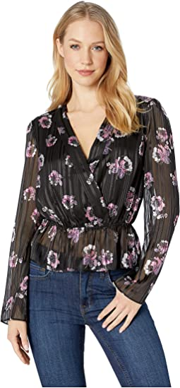 Virginia Shawl Collar Peplum Top