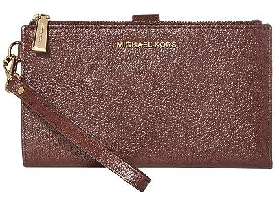 MICHAEL Michael Kors Jet Set Double Zip Wristlet (Barolo) Handbags