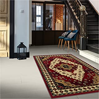 Superior Aztec Collection 8' x 10' Area Rug, Attractive Rug with Jute Backing, Durable and Beautiful Woven Structure, Bright and Bold Southwest Style Bordered Rug