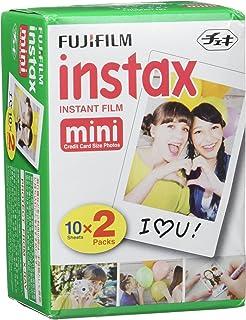Fujifilm Instax Mini Brillo - Pack de 100 películas fotográficas instantáneas (5 x 20 hojas) color blanco