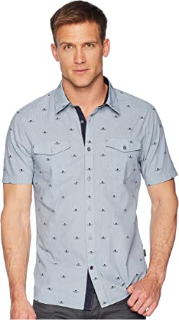 John Varvatos Star U.S.A. Short Sleeve Shirt with Chest Pockets W535U1B