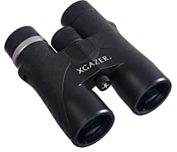 Xgazer Optics HD 10X42 Professional Binoculars - High Power Travel, Hunting, Fishing, Safari, Bird Watching Binoculars - Long Range, Eye-Relief Binoculars w/Neck Strap, Cleaning Cloth & Carrying Case